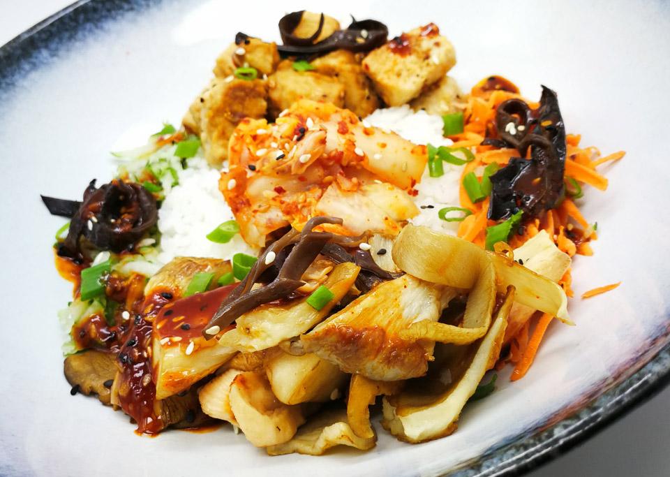 Vegetarian Mushroom Rice Bowl