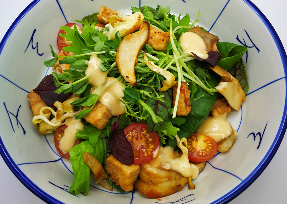 Mushroom Salad with Baobab Dressing
